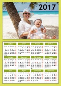 ukázka - magnetický roční kalendář