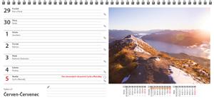 Pracovní stolní týdenní kalendář pro rok 2020 - strana kalendáře