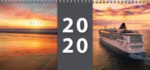 Pracovní stolní týdenní kalendář pro rok 2020 - titulní stránka