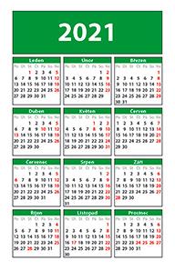 náhled kalendáře - kapesní -  55×85 mm - kalendárium