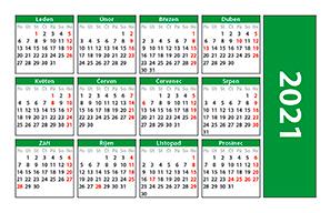 náhled kalendáře - kapesní -  85×54 mm - kalendárium