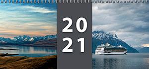 Plánovací kalendář 2021 - stolní týdenní - titulní strana
