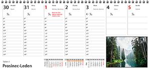 Plánovací kalendář 2021 - stolní týdenní - list kalendáře