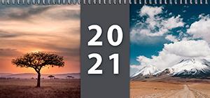 Pracovní stolní týdenní kalendář pro rok 2021 - titulní stránka