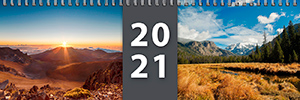 Náhled dvoutýdenního kalendáře - stolní jmenný - titulní strana