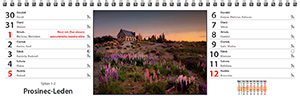 Náhled dvoutýdenního kalendáře - stolní jmenný - strana kalendáře